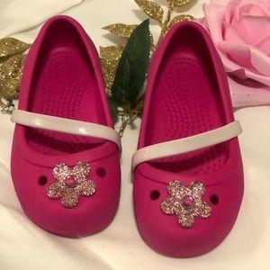 Crocs girls shoes size 8